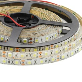 Tira LED Monocolor HQ SMD5050, DC12V, 5m (60 Led/m) - IP65, Blanco cálido